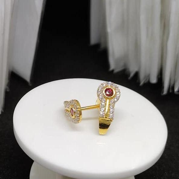 916 Gold CZ Fancy Earring Tops VJ-E013