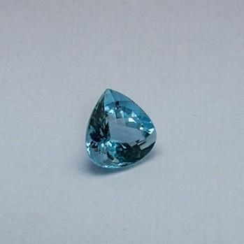 7.410ct pear sky-blue aquamarine