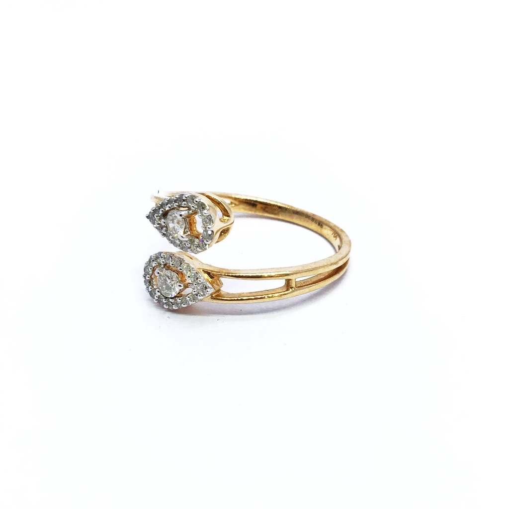 Real diamond fancy rose gold ring
