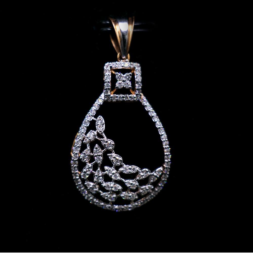 18k gold diamond pendant set agj-ps-191