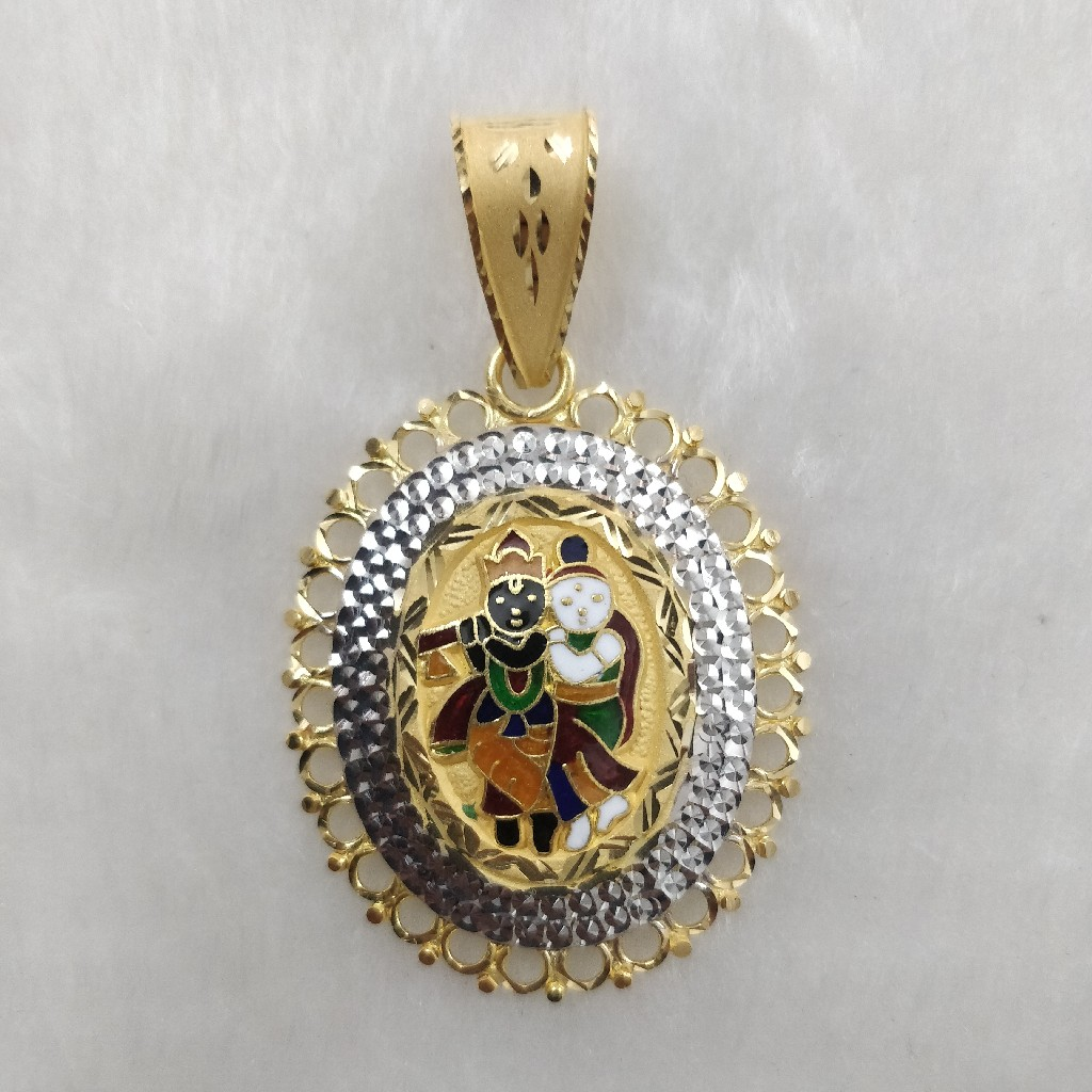 916 Gold Gent's Radha-Krishnan Pendant