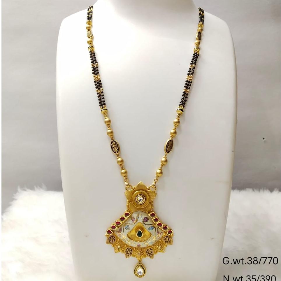 22 carat gold traditional mangalsutra RH-MN837