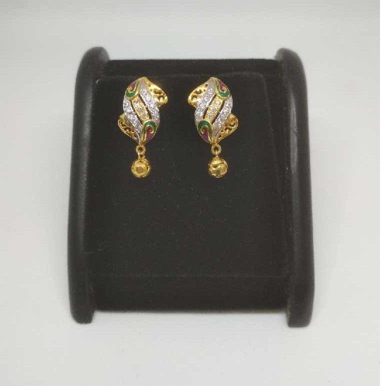 22 K Gold Fancy Earring. NJ-E0940