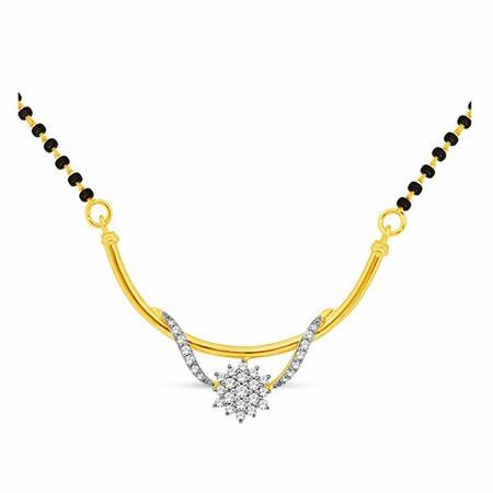 18K Gold Real Diamond Mangalsutra MGA - RMS007