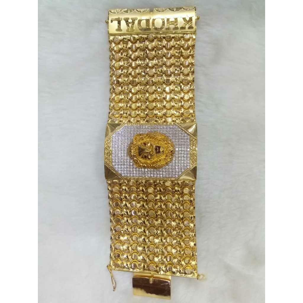 22KT Gold Lion Design Bahubali Gents Bracelet