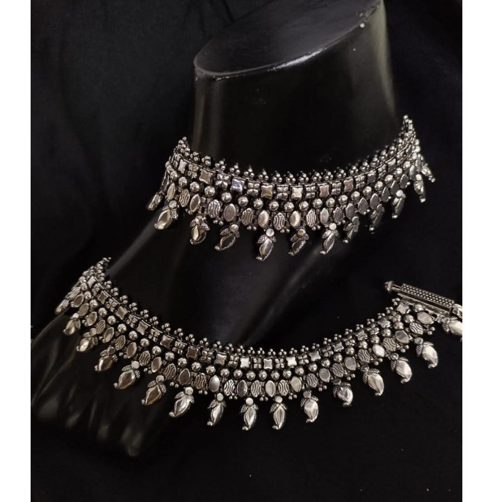 925 Pure Silver Antique Payal Handmade PO-208-22