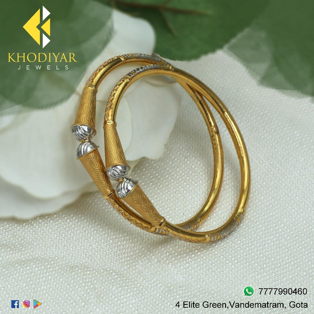 916 Gold Fancy Kadli Bangle KJ-B008