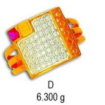 22kt Gold Gents Cz Ring