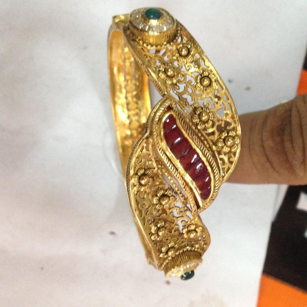 916 gold kundan kada