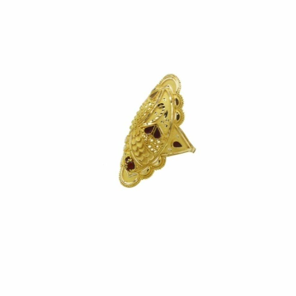 22 k light wt gold ladies ring RJ-LRG-011