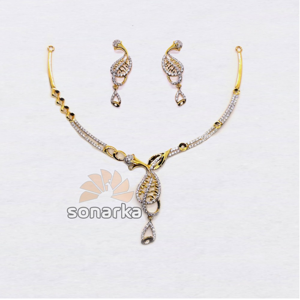 22kt-Lightweight-CZ-Gold-Necklace