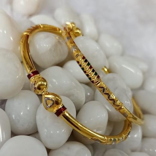 916 Ladies Gold Designer Cooper Bangle SG64