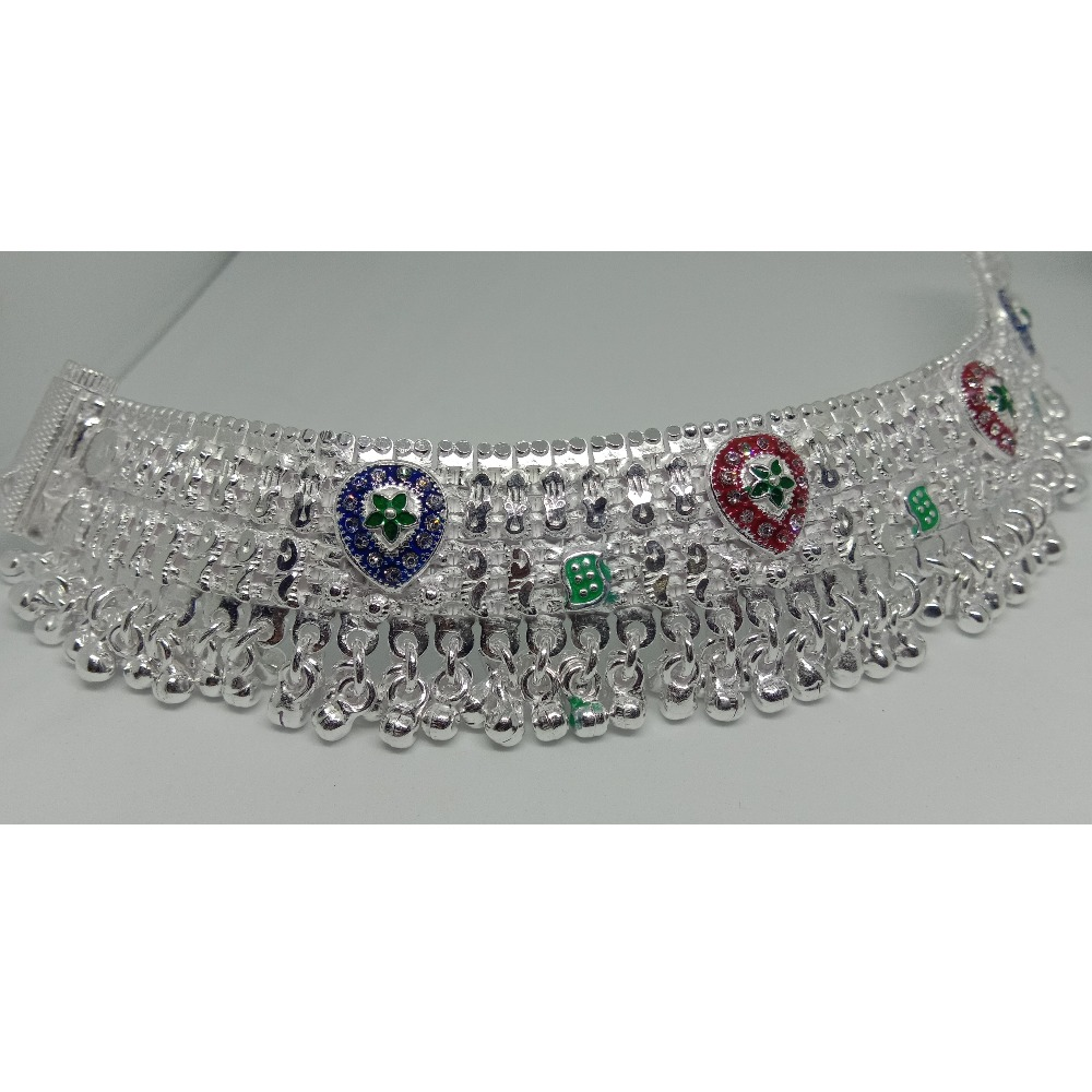 Silver Fancy Ghughari Payal RJ-011