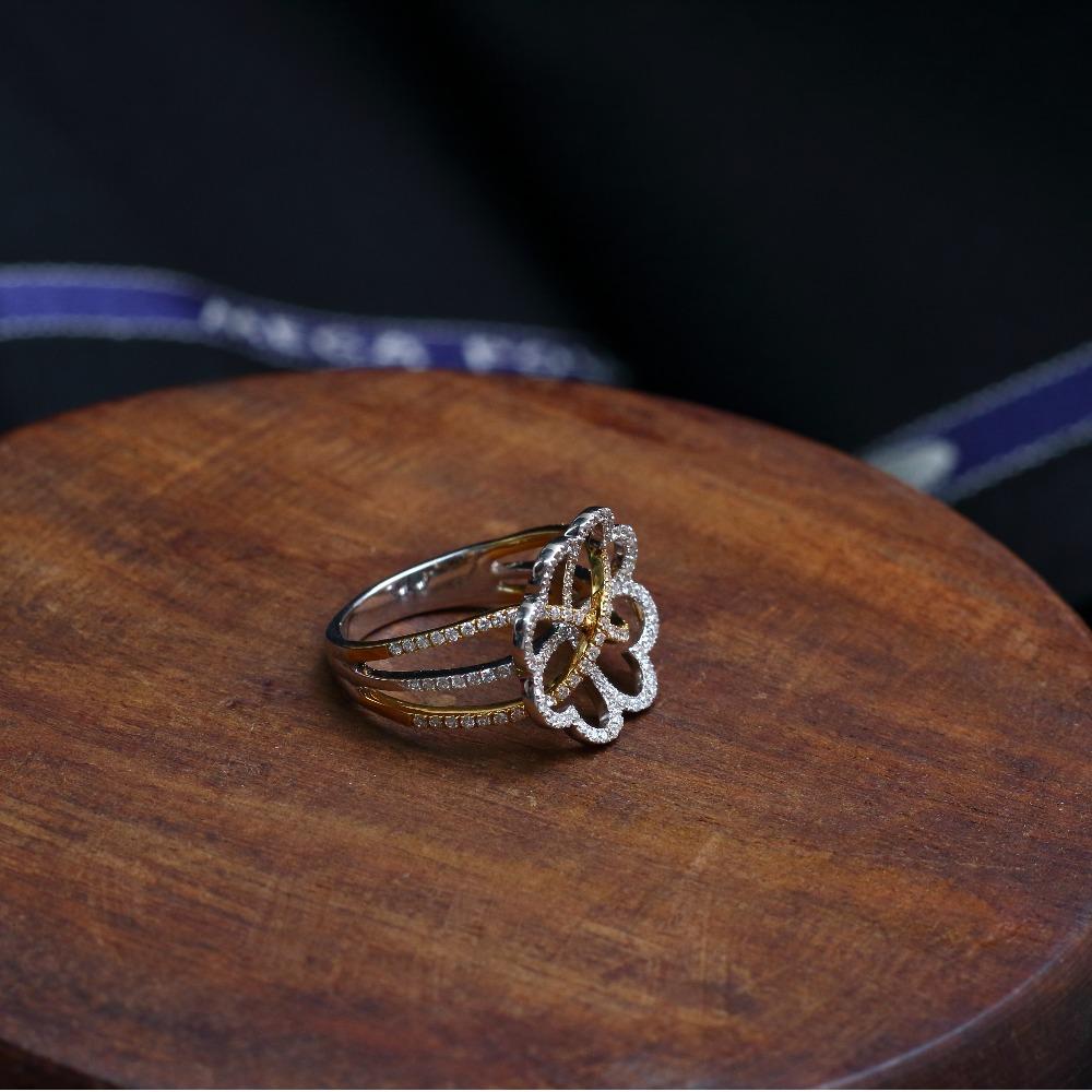 916 Gold Designer CZ Ring VJ-R001