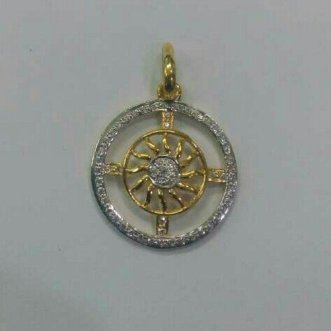 22K / 916 Gold Modern Stylish Pendant
