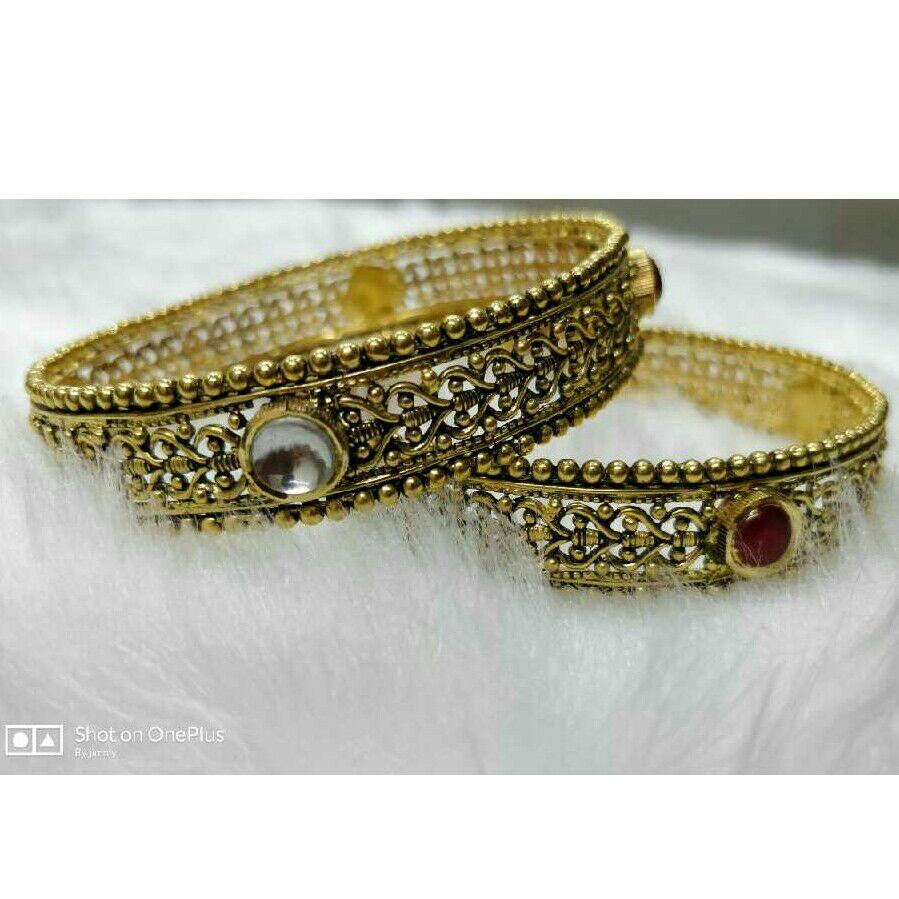 22K/916 Gold Antique Jadtar Bangles