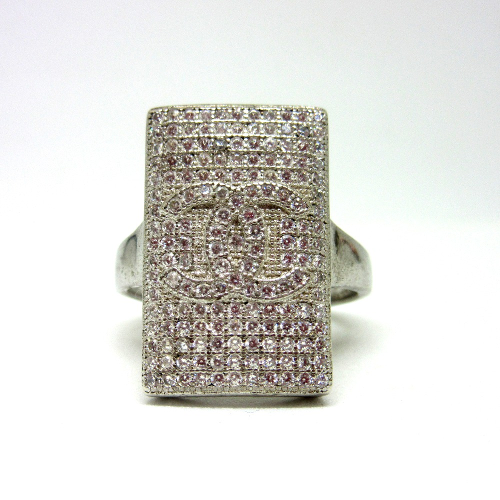 925 silver chanel logo ring for gents sr925-199