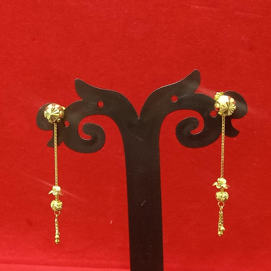 18CT gold hallmark plain design soidora earring