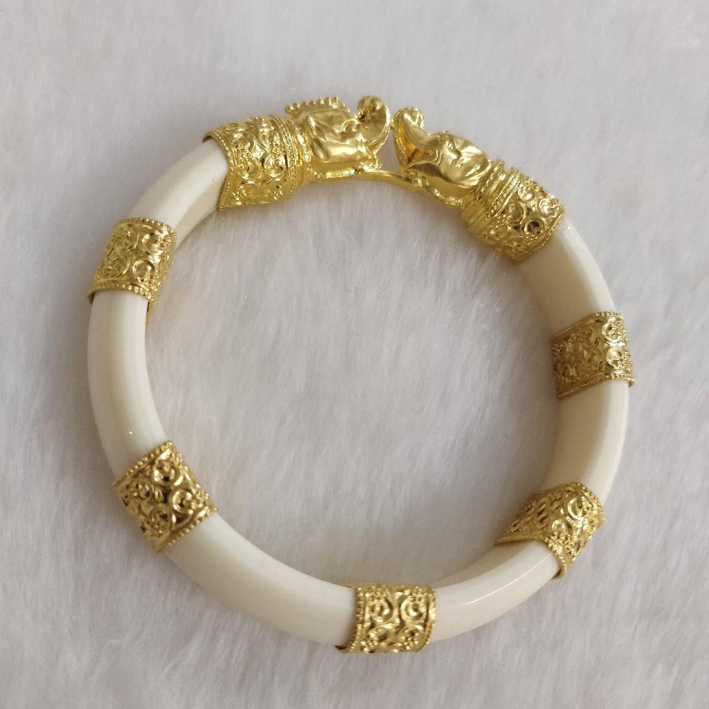 916 Gold Gent's Fancy kada