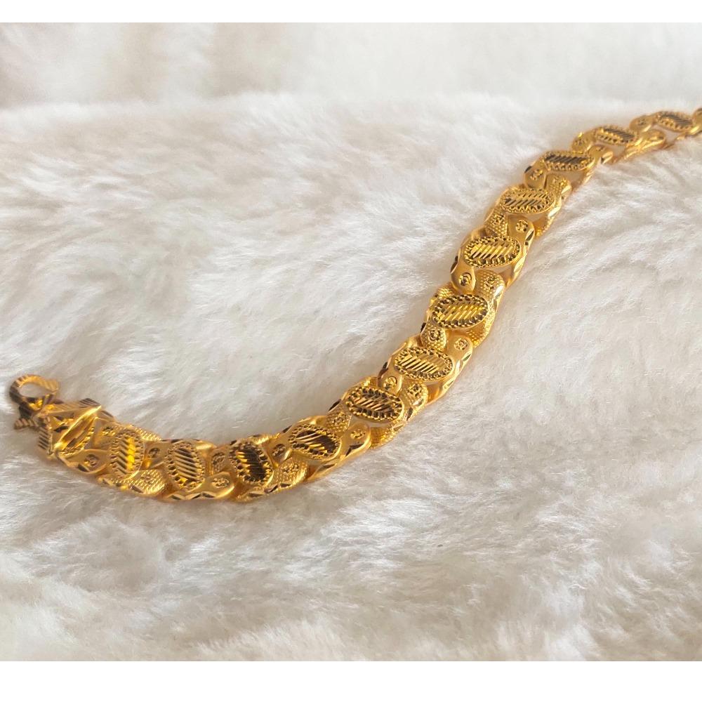 916 gold gents bracelet