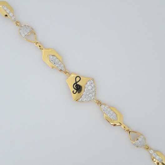 916 gold unique carving bracelet