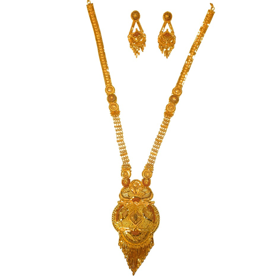 1 gram gold forming necklace set mga - gfn0035