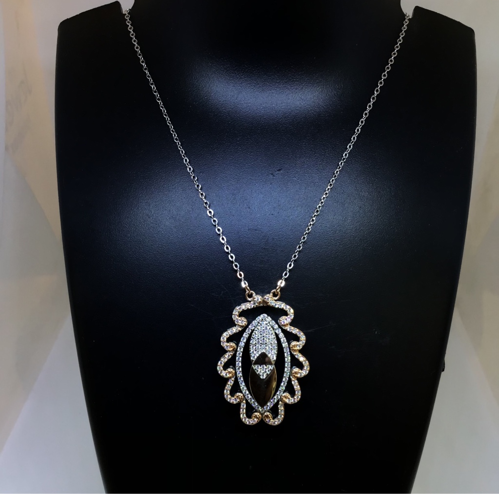 925 SILVER FANCY ROSE GOLD NECKLACE