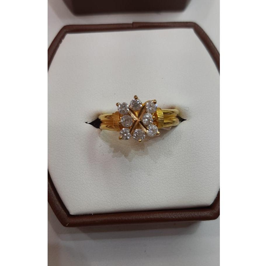 916 Gold Designer ring For Wedding MJ-R010