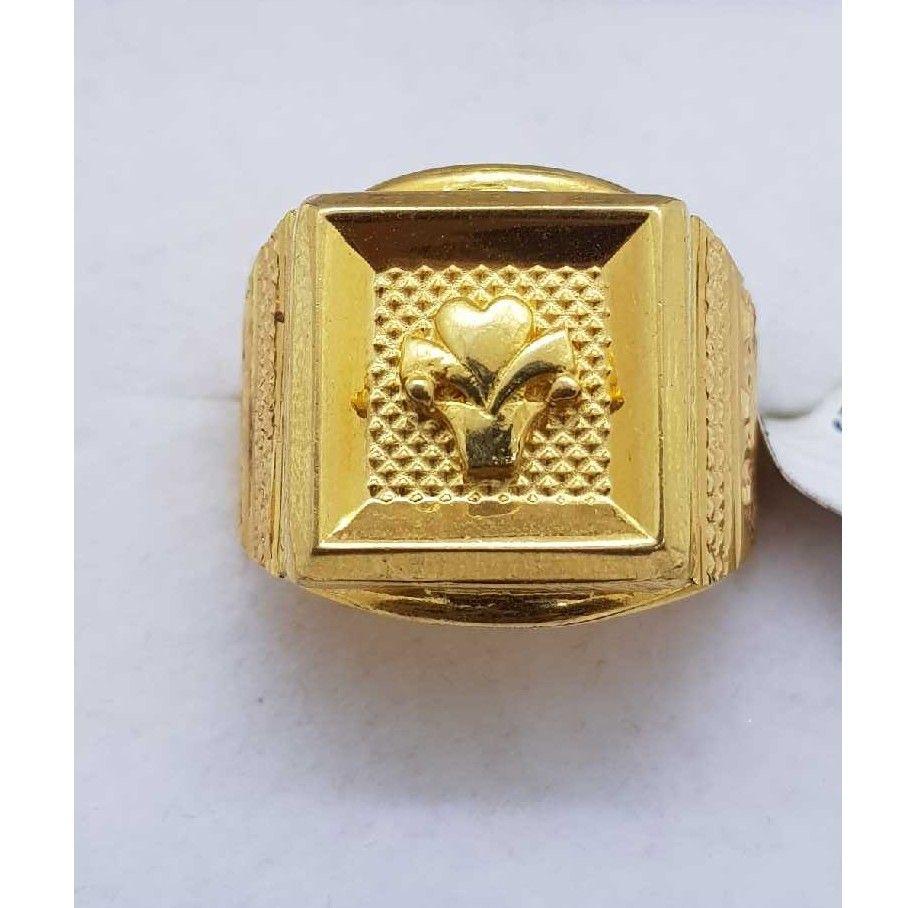 916 Plain Gold gents ring SJ-GR/84