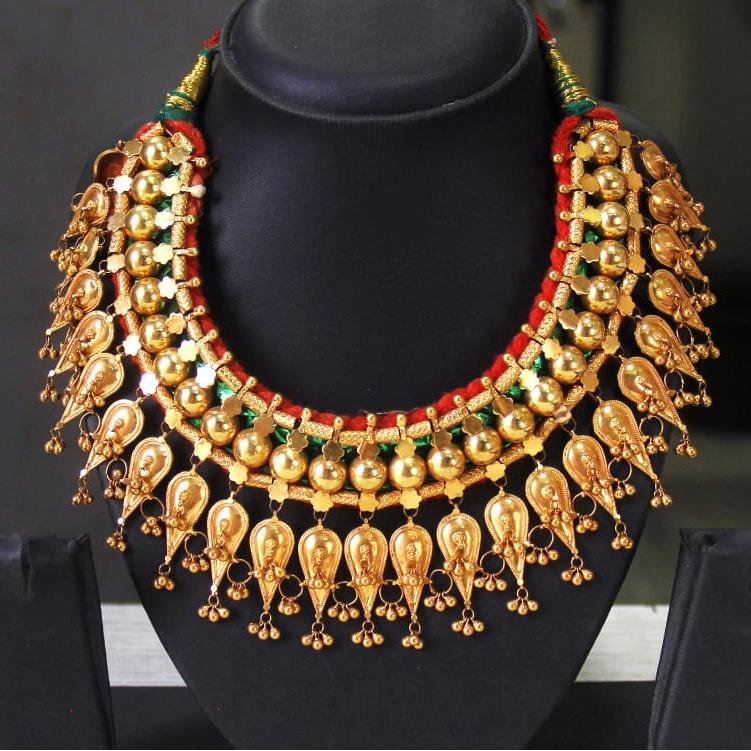 22Kt Gold Indian Design Bridal Necklace Set SRN-N004