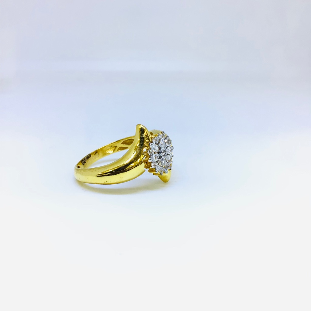 BRANDED FANCY GOLD HOLLOW RING