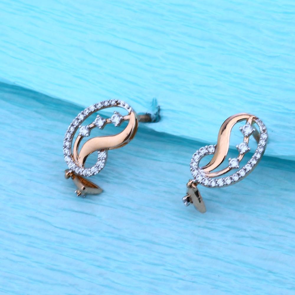 18KT Rose Gold Ladies Hallmark Fancy Pendant Set  RMPN51