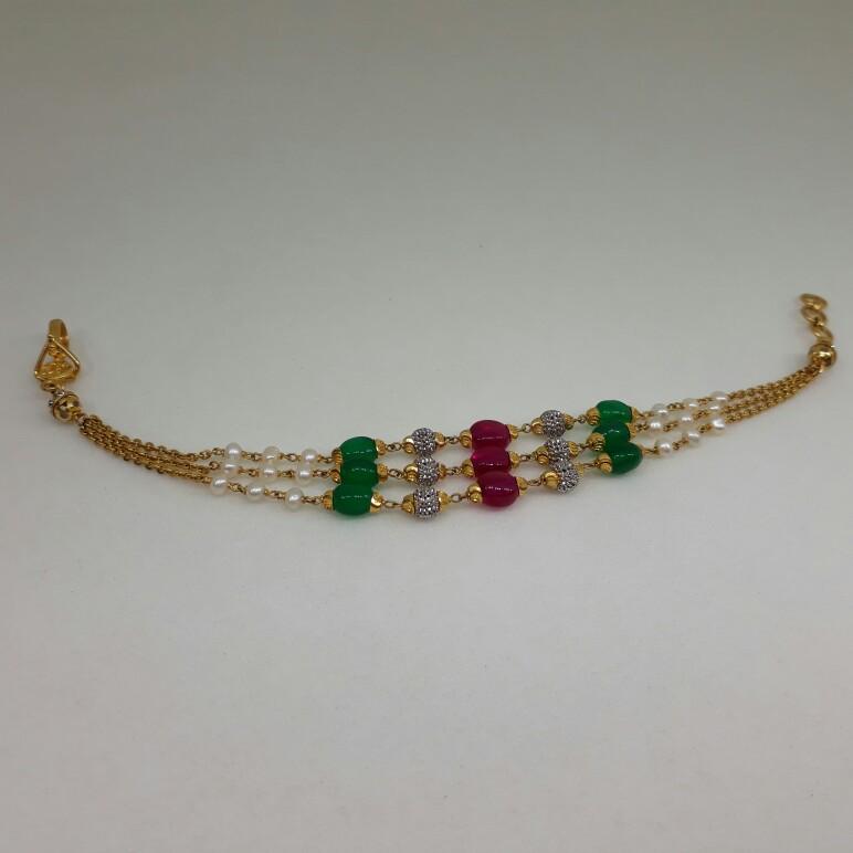 22Ct Multi Colour Ladies Bracelet lk/37/33