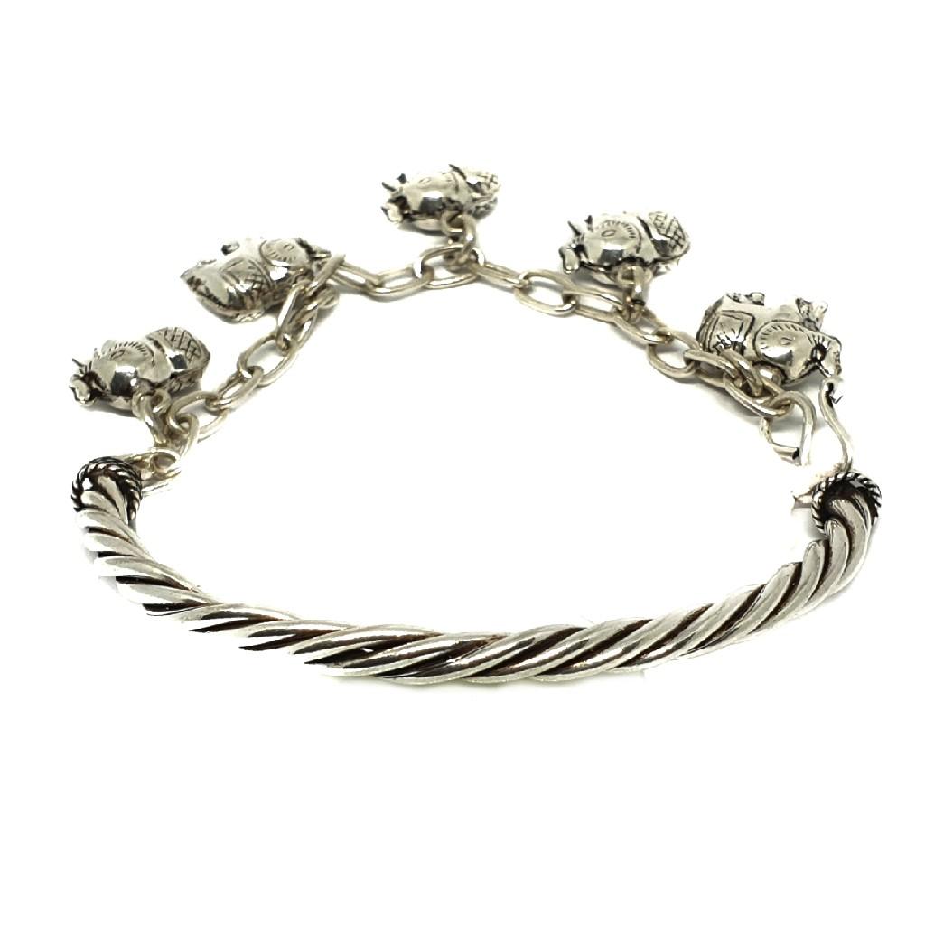 925 Sterling Silver Elephant Pandadi Bracelet MGA - BRS0334