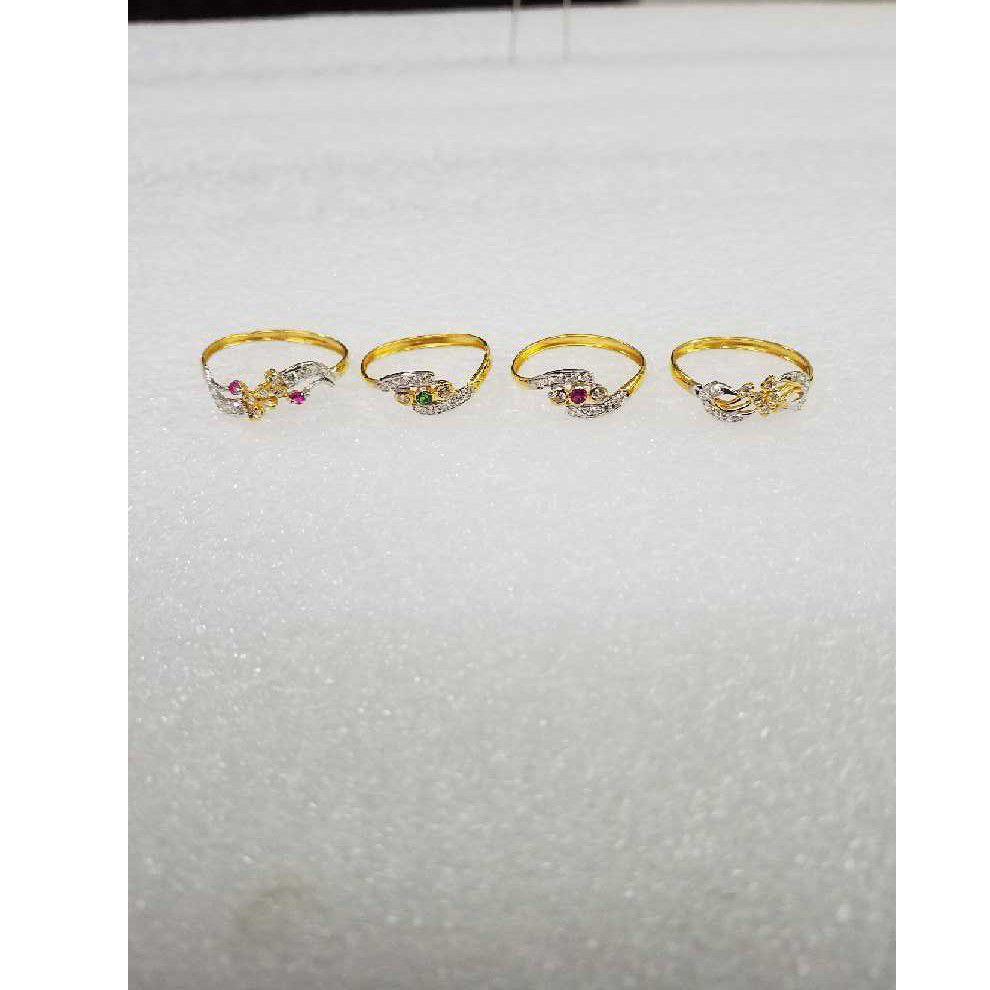 22KT Plain Gold Designer Antique CZ Ladies Ring