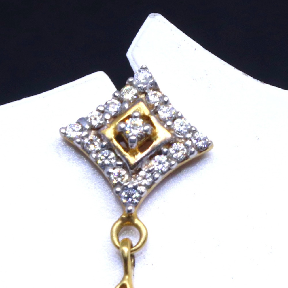 20 KT Gold Square CZ daily ware Earring for Ladies BTG0403