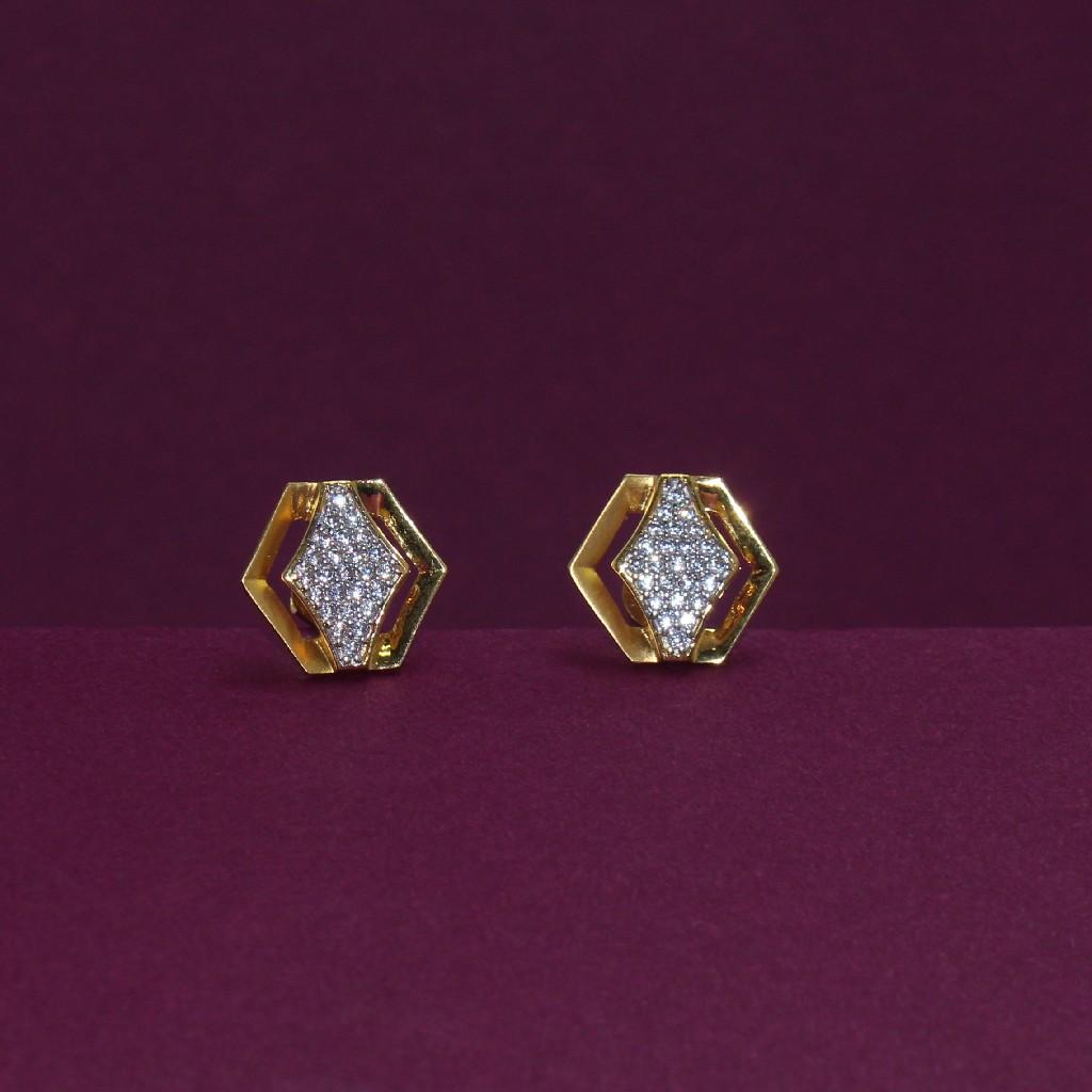 22KT Hallmarked Classic Gemstone Earring