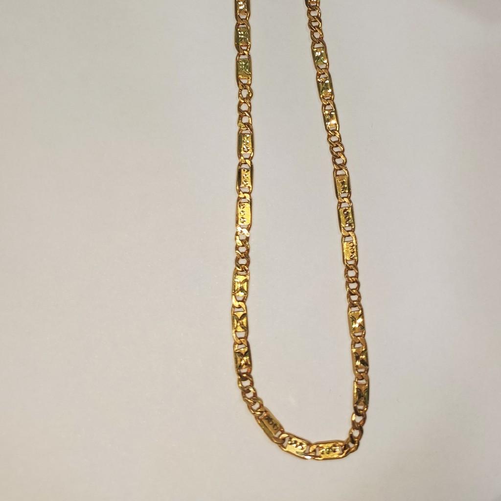 22k 916 gold hollow lightweight Nawabi chain