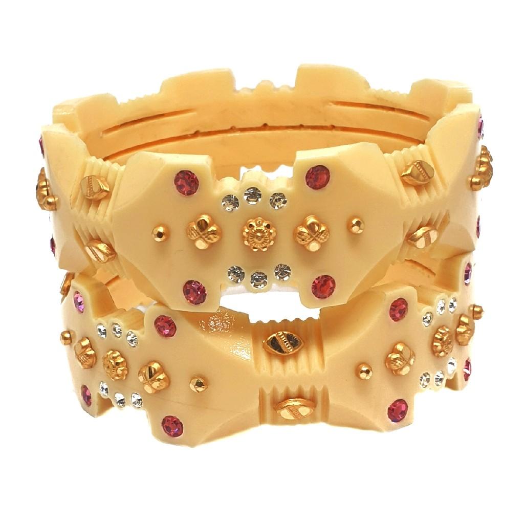 22k gold rajawadi designer chudli bangles mga - cdg0002