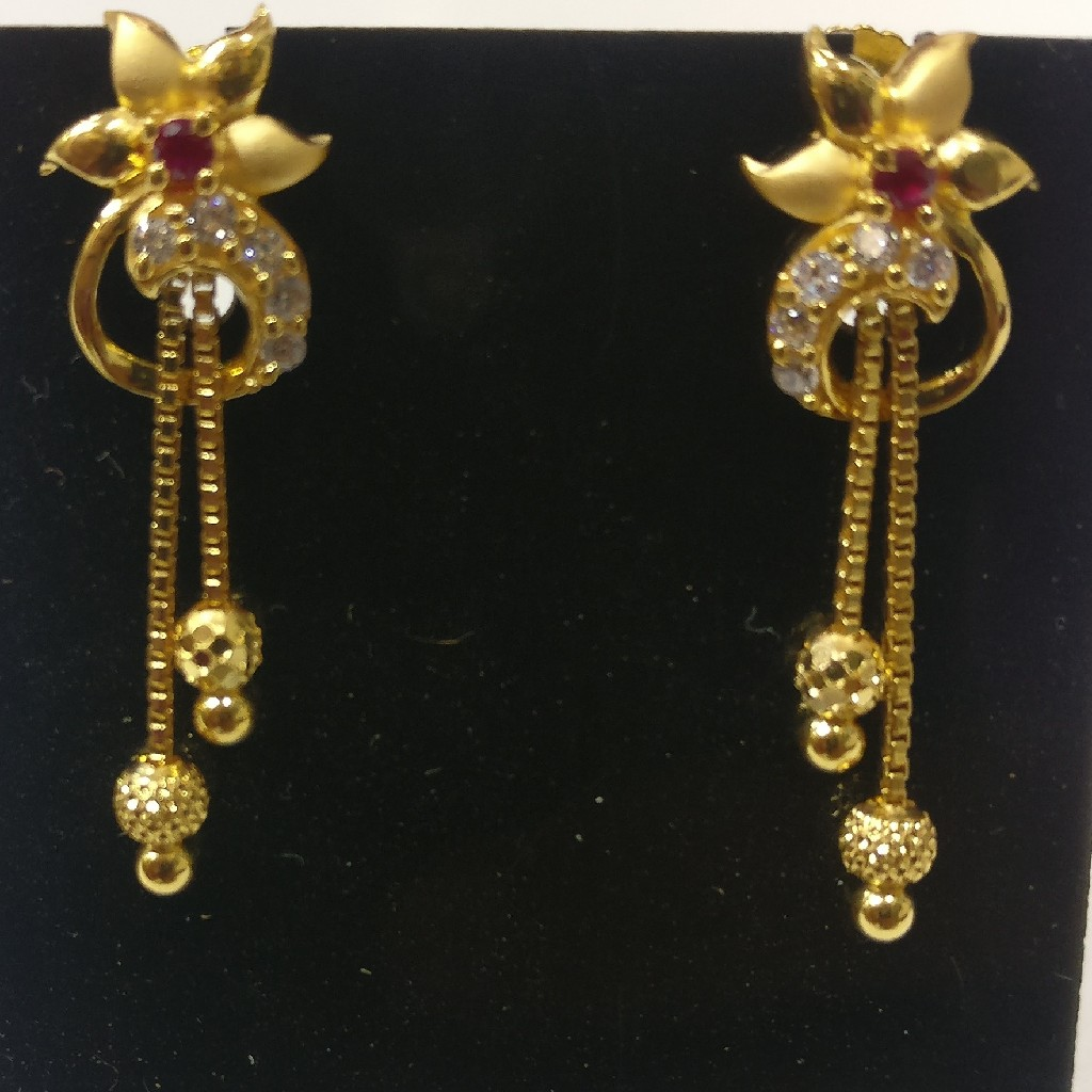 916 Gold Casting chain Earrings
