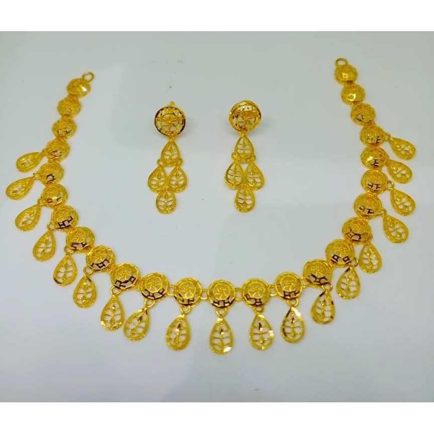 916 gold Turkish design necklace set bj-n017