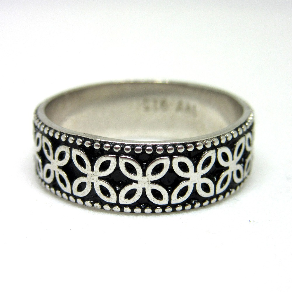 Silver 925 oxidise band sr925-141