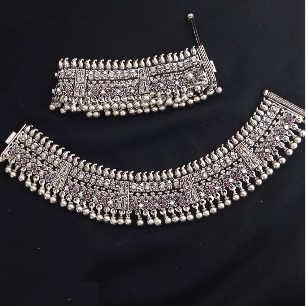 925 Pure Silver Antique Payal Handmade PO-208-28