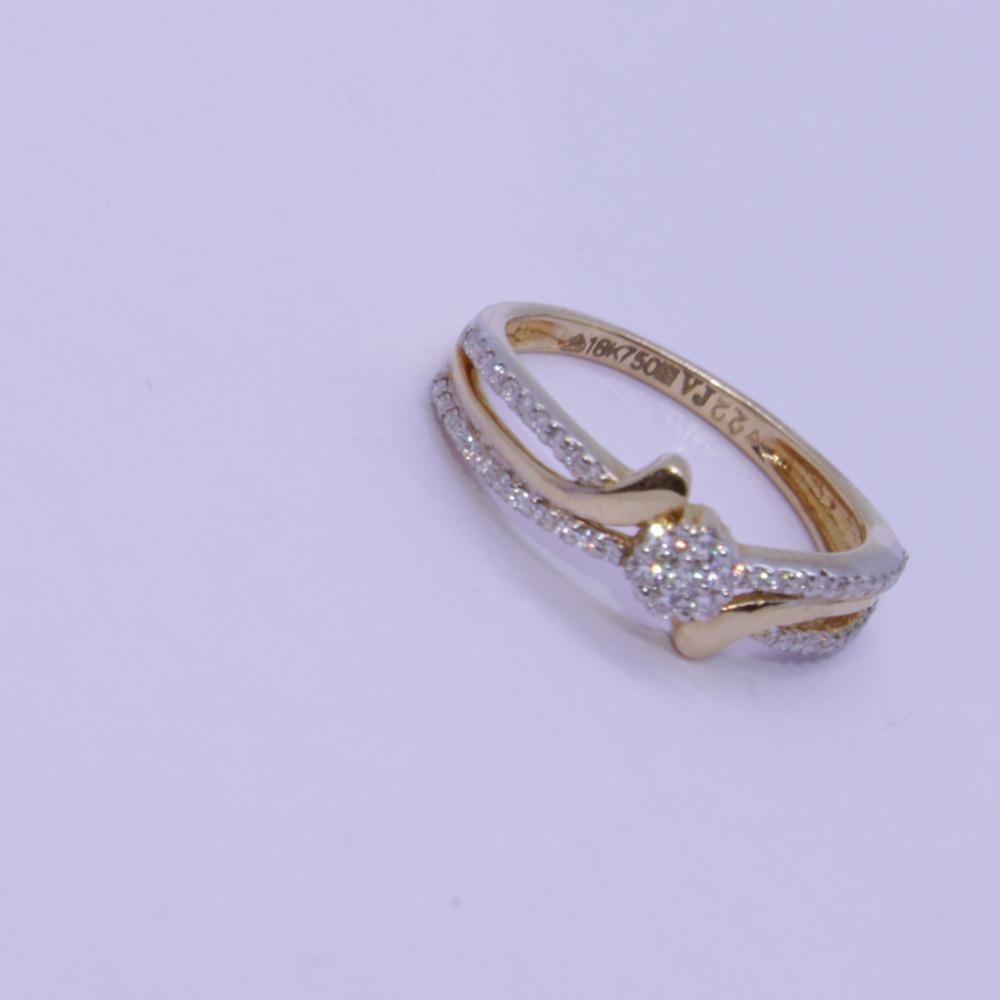 18K gold diamond ring agj-lr-312