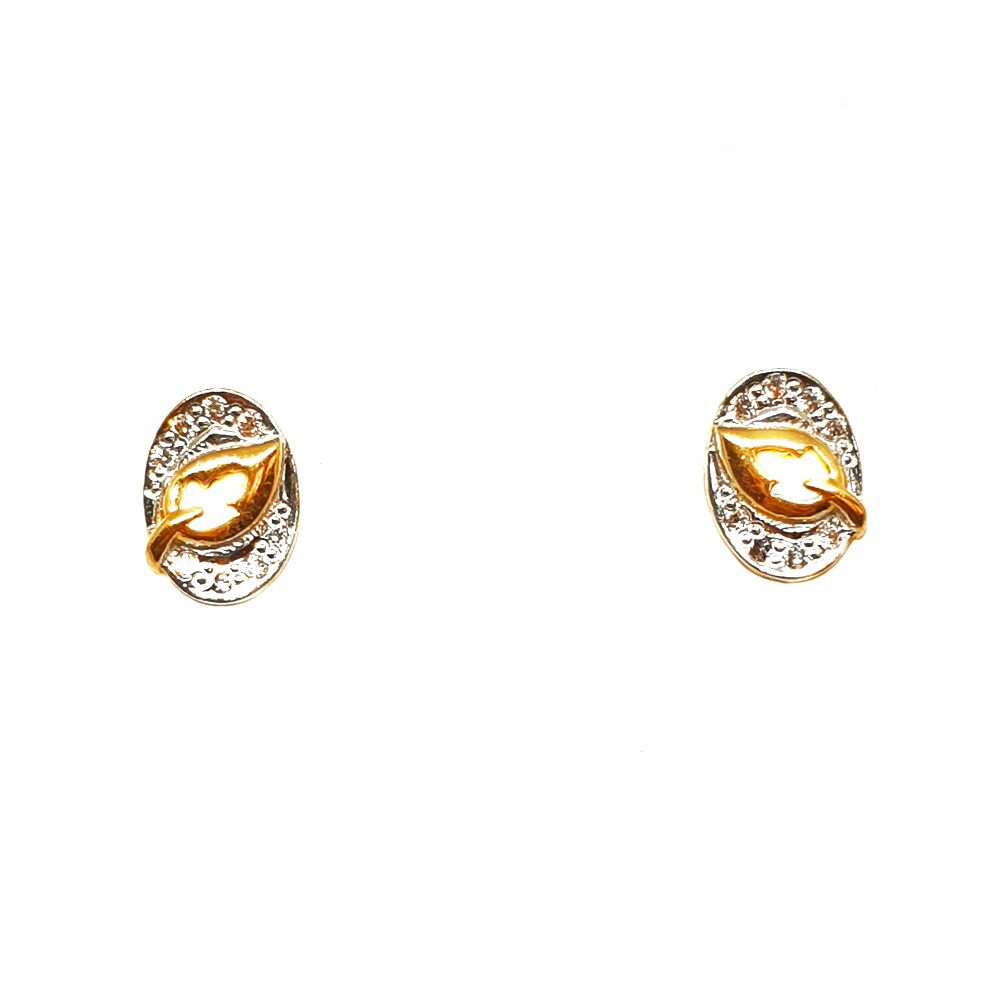 22K Gold Oval Shaped Fancy Earrings MGA - BTG0373