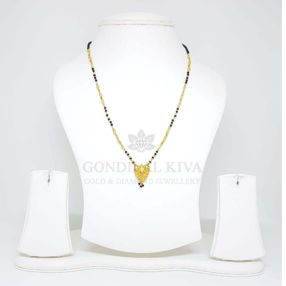 18kt gold mangalsutra gms15