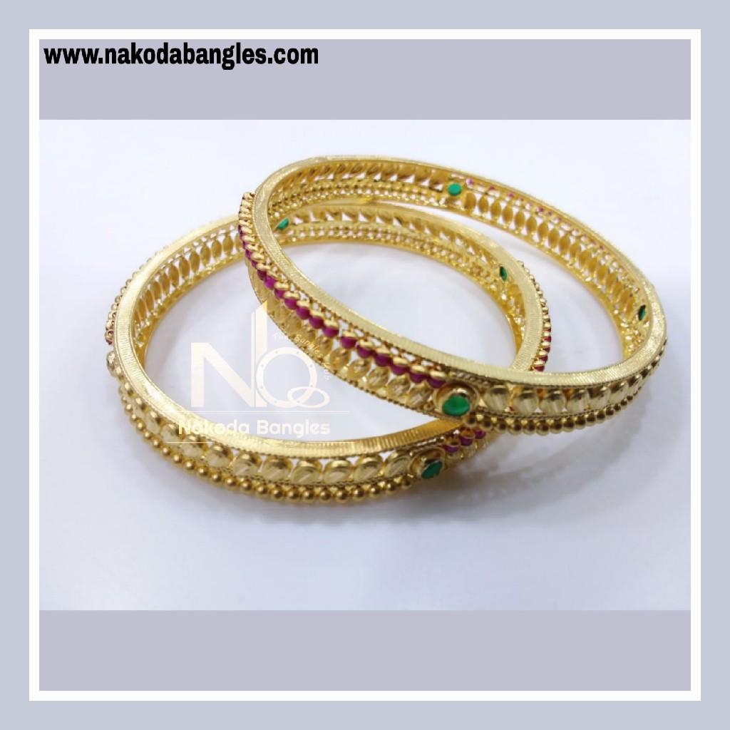 916 Gold Chakri Bangles NB - 851