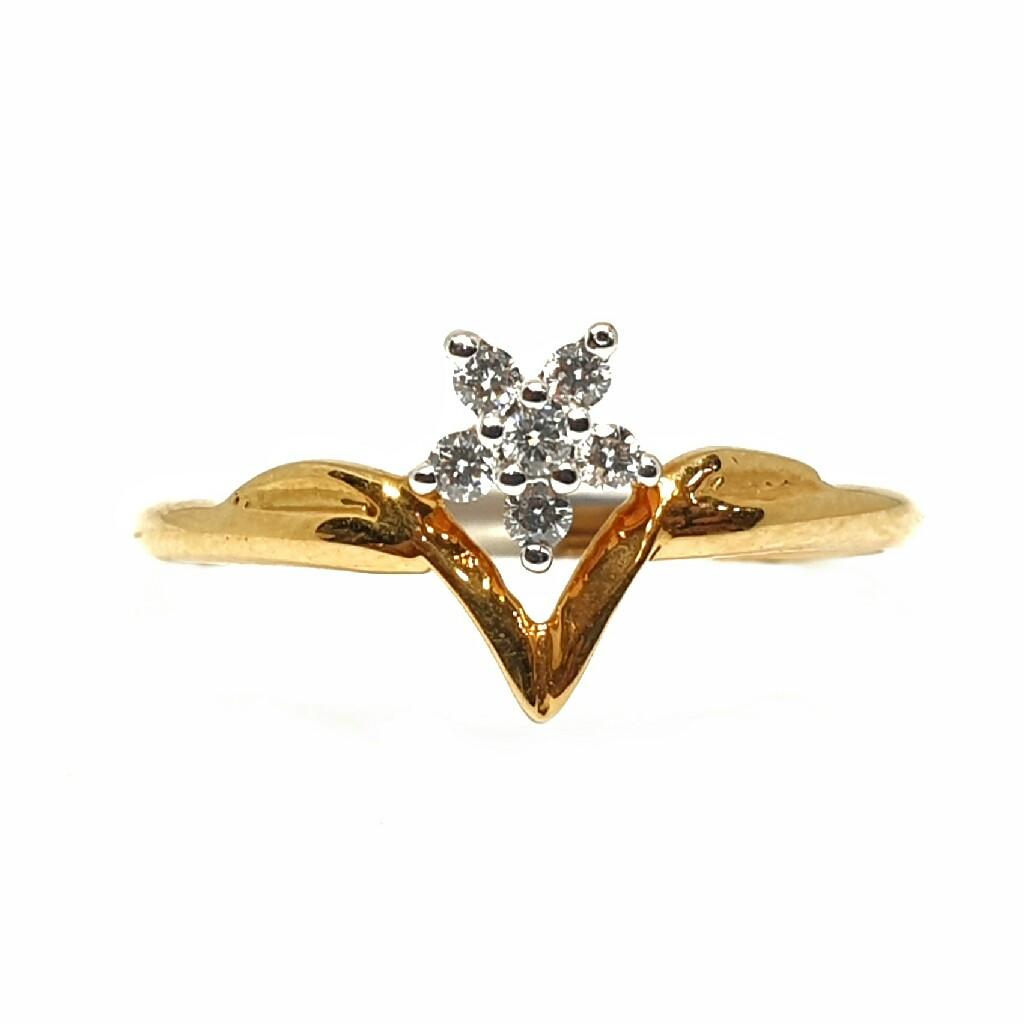 18k gold real diamond ring mga - rdr0017