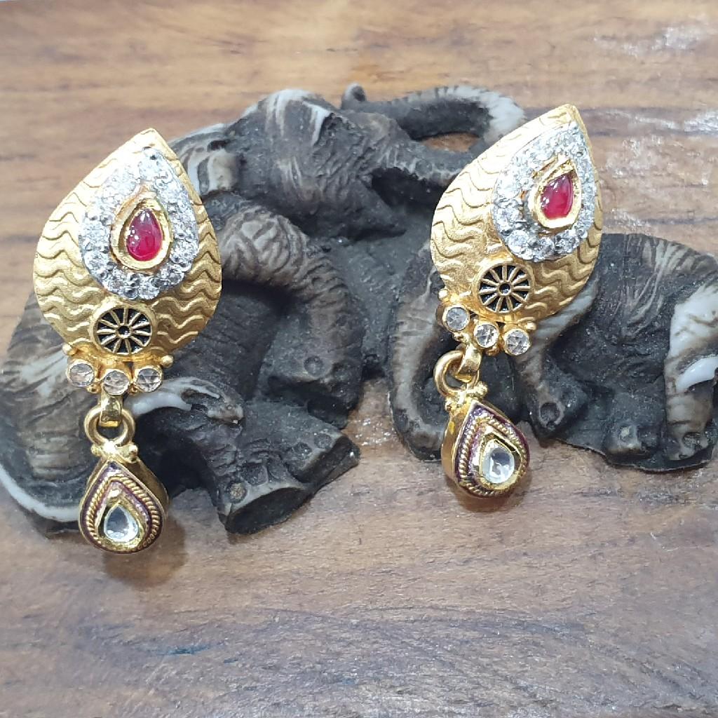 cz work Gold Earring ERG0069