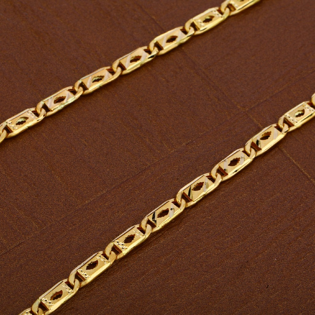 Mens 916 Gold Nawabi Chain-MNC37